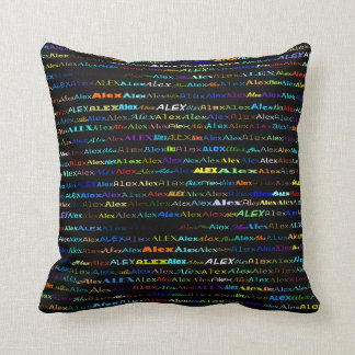 Alex Text Design I Throw Pillow