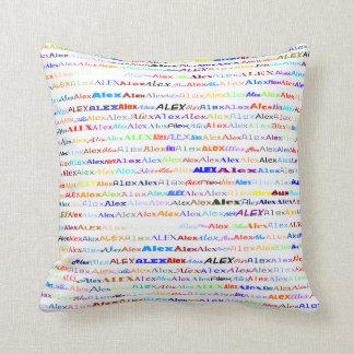 Alex Text Design II Throw Pillow