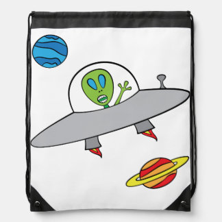 Alex the Alien - Drawstring Backpack