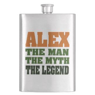 Alex, the Man, the Myth, the Legend! Hip Flask