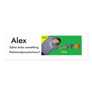 Alex THP7 card Double-Sided Mini Business Cards (Pack Of 20)