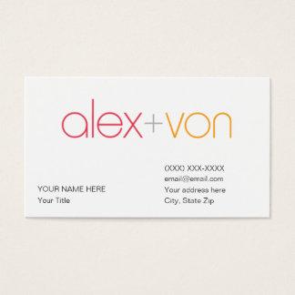 alex von Business Card Template (w/ address)