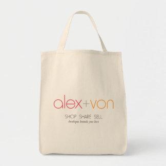 alex+von Canvas Grocery Bag