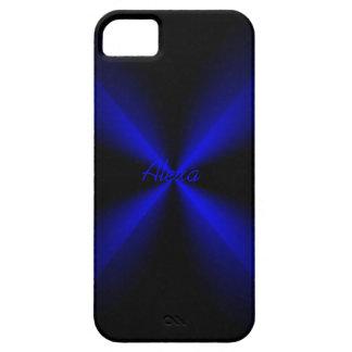 Alexa Black and Blue iPhone 5 case