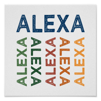 Alexa Cute Colorful Poster
