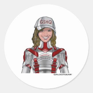 Alexa Hart/battlesuit Round Sticker