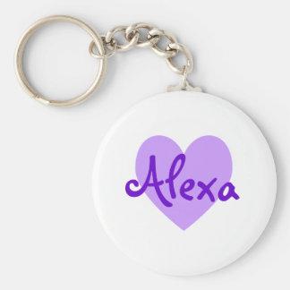 Alexa in Purple Basic Round Button Keychain