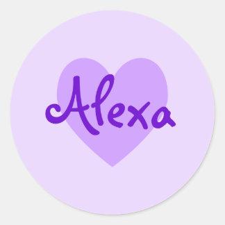 Alexa in Purple Classic Round Sticker