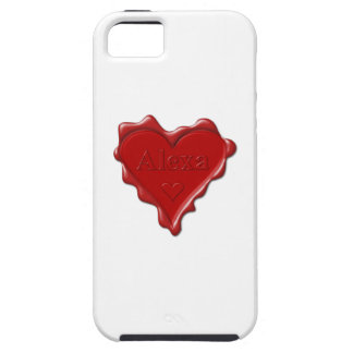 Alexa. Red heart wax seal with name Alexa iPhone SE/5/5s Case