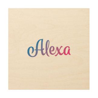 Alexa Stylish Cursive Wood Wall Decor