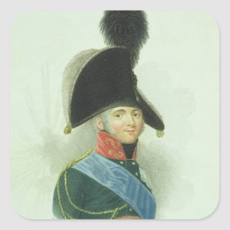 Alexander (1777-1825) el gran emperador de todo el pegatinas cuadradas
