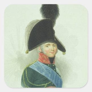 Alexander (1777-1825) el gran emperador de todo el pegatina cuadrada
