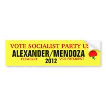 Alexander 2012 bumper sticker car bumper sticker