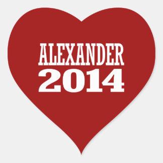 ALEXANDER 2014 HEART STICKER