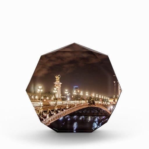 Alexander 3 bridge in Paris France at night Acrylic Award