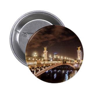 Alexander 3 bridge in Paris France at night Pin