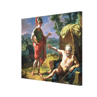 Alexander and Diogenes, 1818 (oil on canvas) Gallery Wrap Canvas