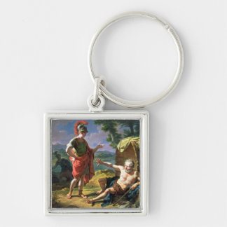 Alexander and Diogenes, 1818 (oil on canvas) Keychain