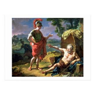 Alexander and Diogenes, 1818 (oil on canvas) Postcard