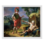 Alexander and Diogenes, 1818 (oil on canvas) Poster