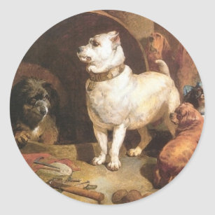 Alexander and Diogenes by Edwin Henry Landseer Classic Round Sticker