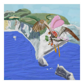 Alexander And Seagull Arrive At The Isle Of Wight Poster