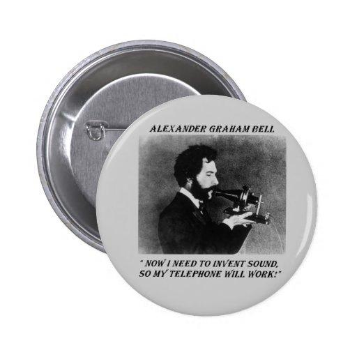Alexander Bell Funny Button