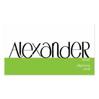 Alexander black Profile Card Double-Sided Standard Business Cards (Pack Of 100)