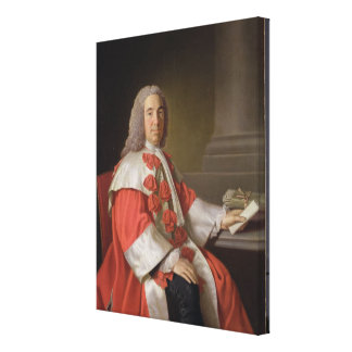 Alexander Boswell (1706-82) Lord Auchinleck, c.175 Canvas Print
