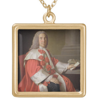 Alexander Boswell (1706-82) Lord Auchinleck, c.175 Square Pendant Necklace