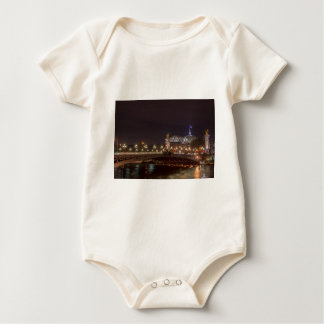 Alexander bridge and large palace At night Paris Baby Bodysuit