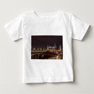 Alexander bridge and large palace At night Paris Baby T-Shirt