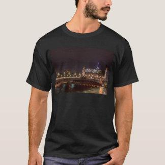 Alexander bridge and large palace At night Paris T-Shirt
