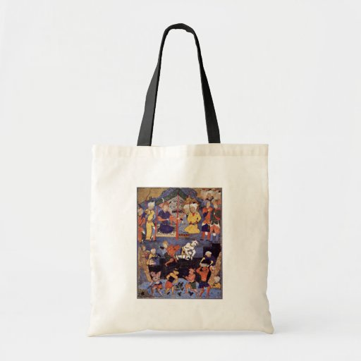Alexander Building A Wall Against Gog And Magog By Budget Tote Bag