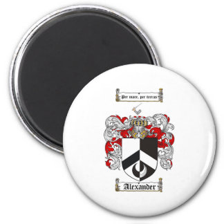 Alexander Coat of Arms / Alexander Family Crest 2 Inch Round Magnet
