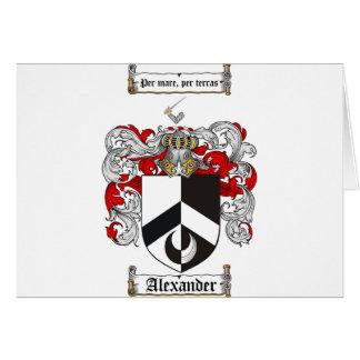 Alexander Coat of Arms / Alexander Family Crest Card