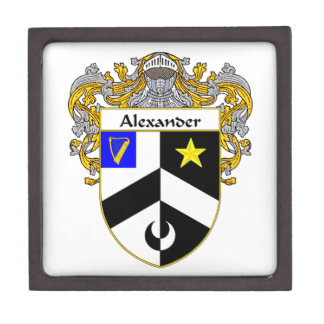 Alexander Coat of Arms/Family Crest Jewelry Box