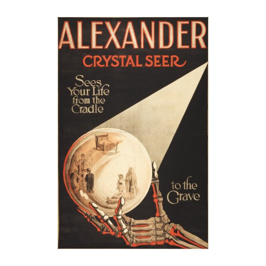 """Alexander, Crystal """"Cradle to the Grave"""" Magic Canvas Print"""