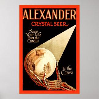 Alexander, Crystal Seer ~ Vintage Magician Poster