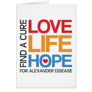 Alexander disease awareness card - find a cure!
