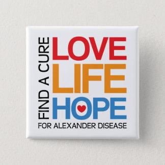 Alexander disease awareness pin - find a cure!