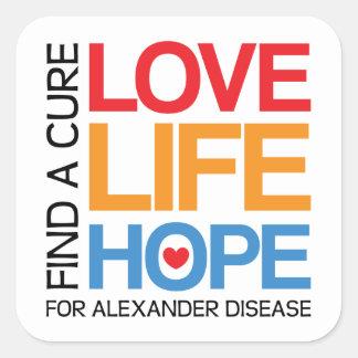 Alexander disease awareness sticker - find a cure!