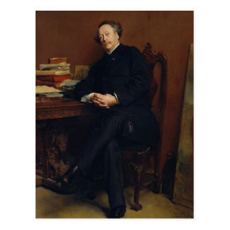 Alexander Dumas Fils  1877 Postcard