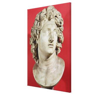 Alexander el gran rey de Macedonia Lona Estirada Galerías