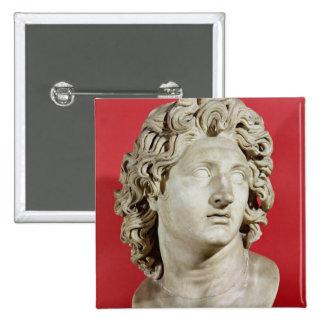 Alexander el gran rey de Macedonia Pin Cuadrado