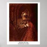 Alexander el grande de Rembrandt Van Rijn Poster