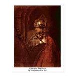 Alexander el grande de Rembrandt Van Rijn Tarjetas Postales