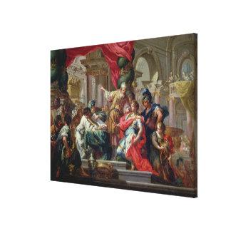 Alexander el grande en el templo de Jerusalén Lona Estirada Galerías