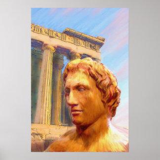 Alexander el grande poster impresión para enmarca