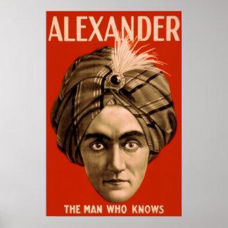 Alexander el hombre que sabe el poster